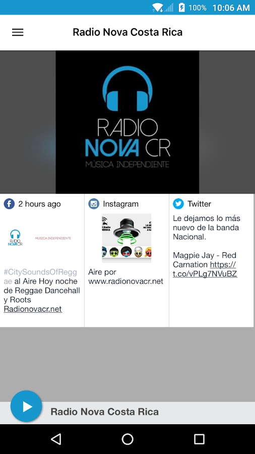 Radio Nova Costa Rica- screenshot