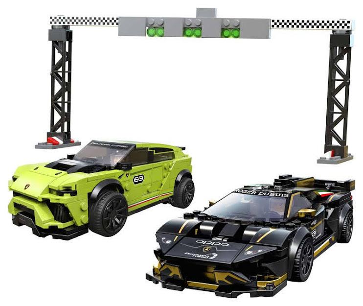 Contenido de Lego® 75899 Lamborghini Urus ST-X & Lamborghini Huracán Super Trofeo EVO