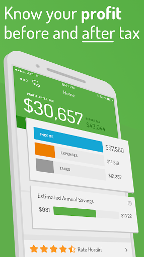 Hurdlr: Track Mileage, Expenses, and Log Receipts screenshot for Android