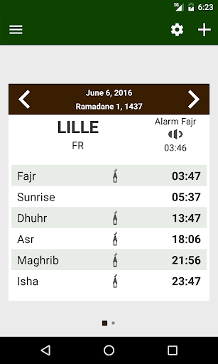 Prayer times: Qibla & Azan 1.4 screenshots 1