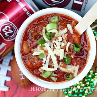 Dr Pepper Game Day Beef Chili.