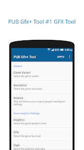 PUB Gfx+ Tool🔧:#1 GFX Tool(with advance settings) 0.18.1 Patched Apk [Unlocked] 1