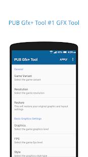 PUB Gfx+ Tool🔧:#1 GFX Tool(with advance settings) Screenshot