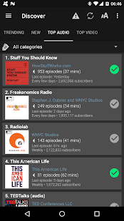 Podcast & Radio Addict- screenshot thumbnail