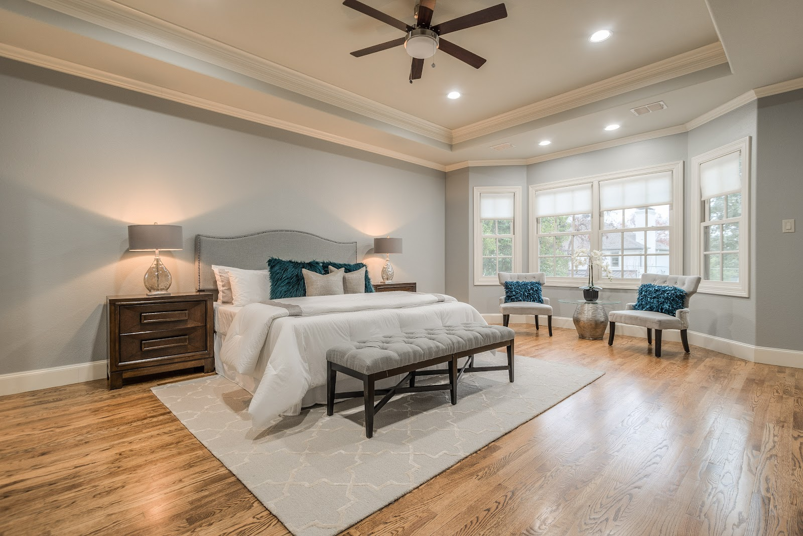 after design by keti luxury master bedroom west highland park dallas home renovation and staging