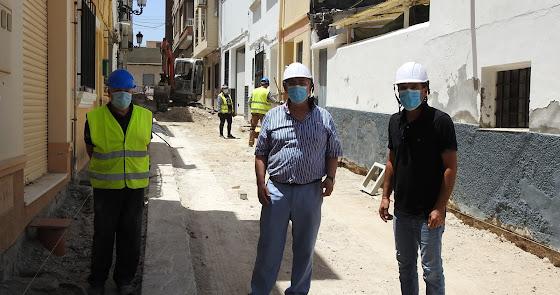 Mejoras en la calle Ciprés de Huércal-Overa con el PFEA