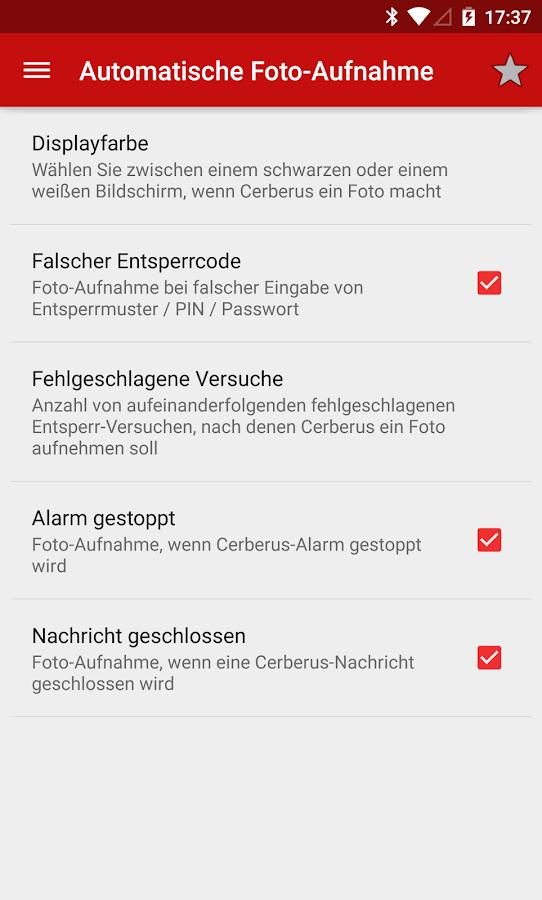 Cerberus Anti-Diebstahl- screenshot