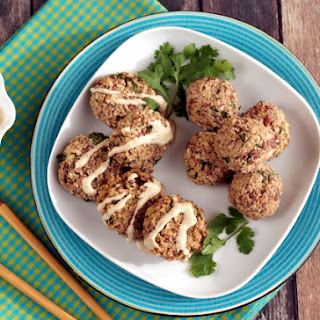 Thai Quinoa Balls or Bites with Optional Peanut-Free Dipping Sauce