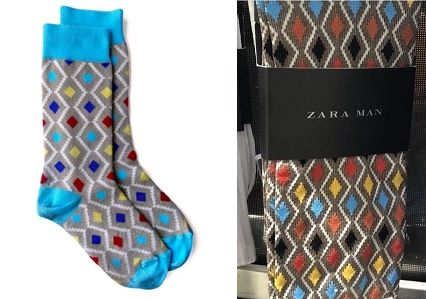 From left: MSock 3.1 by Maxhosa by Laduma, and men's socks from Zara.