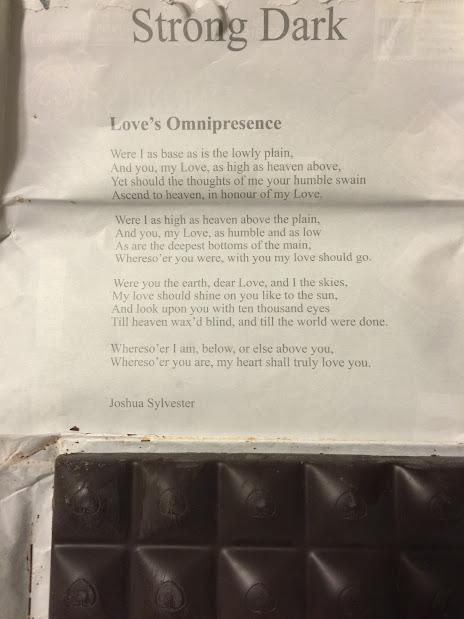 70% chocolove bar poem