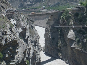 Photo: bridge across sutlej after puh
