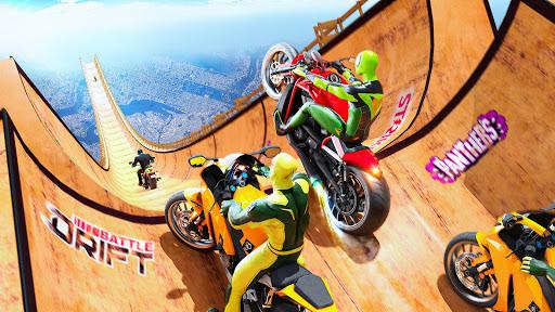Superhero Bike Stunt GT Racing - Mega Ramp Games  screenshots 1