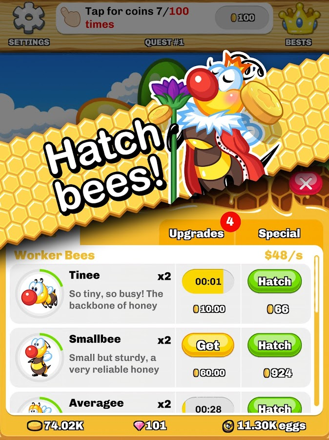 Honey Beellionaire - Tapper- screenshot
