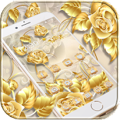 Golden Rose Theme Gold Roses