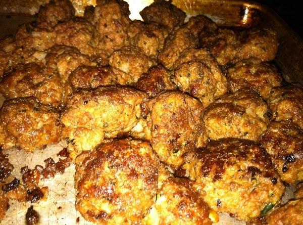 Pan of Meatballs cooling.