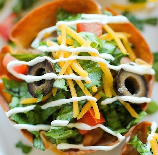 Appetizer Taco Salads Recipe