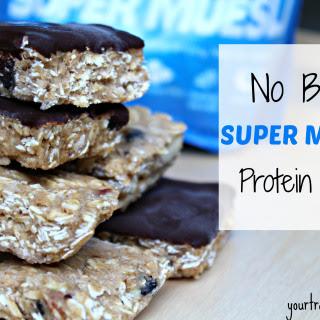 No Bake Super Muesli Protein Bars