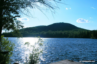 Photo: A sunny day on Spectacle Pond, Brighton State Park
