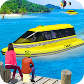 Navy Boat Taxi Transport System 3D