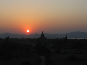 Photo: Sunset over Bagan