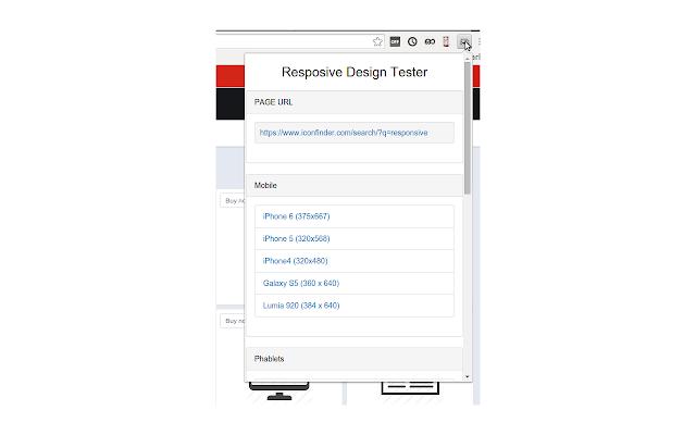 Responsive design tester