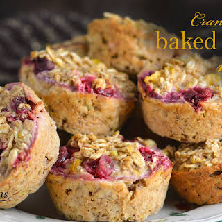 Cranberry Orange Baked Oatmeal Muffins.