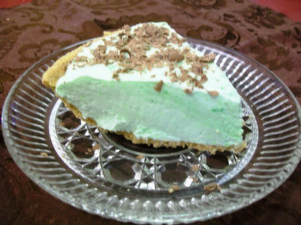 A Little Chocolate Shavings On This Pie Makes Is Very Special.