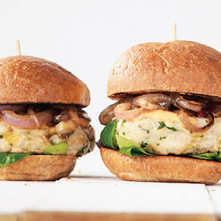 Lemon Herb Chicken Burgers with Thousand Island Dressing.