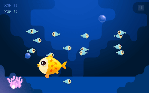 Feed happy fish lay colorful baby fish android apps on for Google fish tank mrdoob
