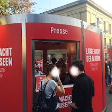 Photo: Veloform Media bboxx SYSTEM Info and press point for Lange Nacht der Museen Berlin 2015