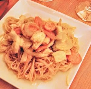 Nouilles wokées au poulet