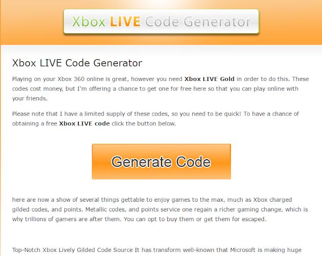 All xbl game code generator