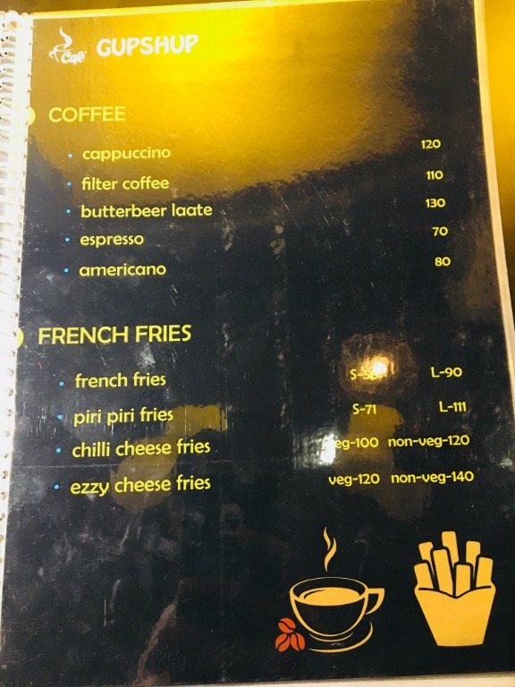 Cafe Gupshup menu 3