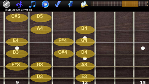 Guitar Scales & Chords Free Added Sustain option screenshots 2
