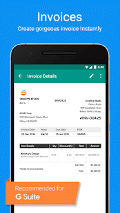 Invoice & Time Tracking - Zoho- screenshot thumbnail