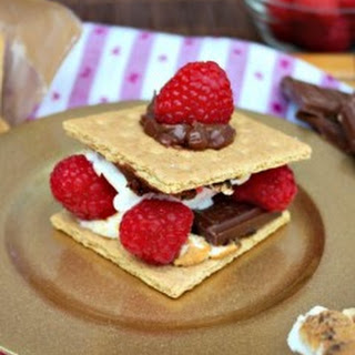 Weeknight Dessert Raspberry S'mores.