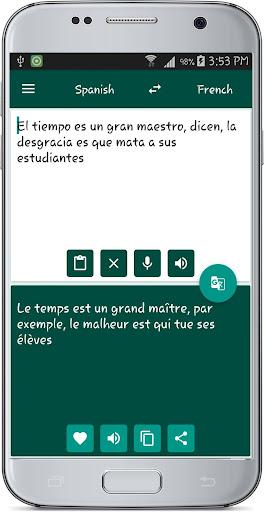 French Spanish Translate 1.1 screenshots 10