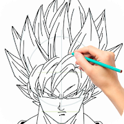Learn how to draw Goku for Dragonball