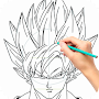 Learn how to draw Goku for Dragonball APK icon