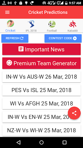 All Dream 11 Predictions Pro(Dream11, Fantain)  screenshots 2