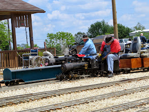 Photo: The two steam engineers of the day, Pete Greene and Clyde Brown     HALS Public Run Day 2014-0419 RPW  12:48 PM