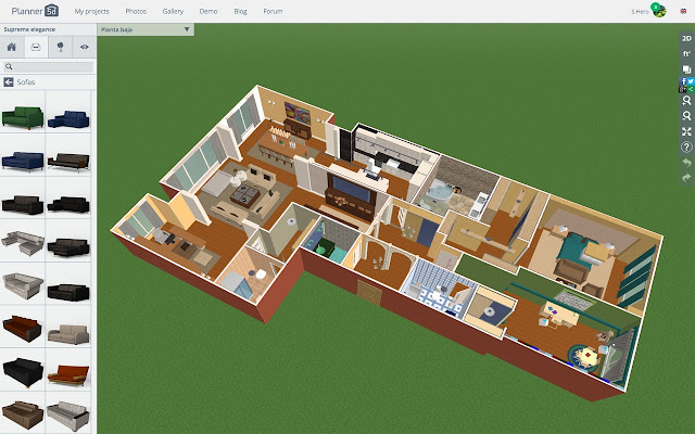 Planner 5d interior design chrome web store for Office design 5d