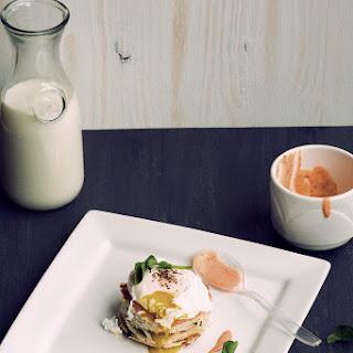 Poached Egg with Sriracha Mayo.