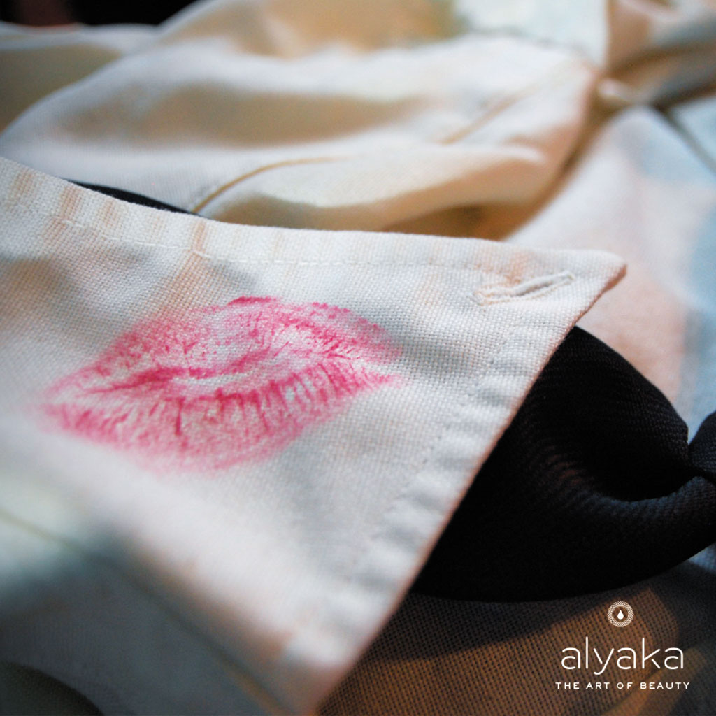 Lipstick Stain on Fabric