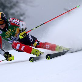 Erik Read in Kranjska gora by Igor Martinšek - Sports & Fitness Snow Sports ( pokal vitranc, fis ski world cup, slovenia, erik read, kranjska gora )