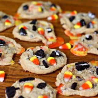 Candy Corn Oreo Cookies.