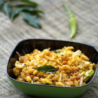 Kalchina Aratikaya Koora Recipe - Andhra Style Roasted Plantain Curry