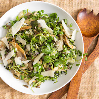 Roasted Oyster Mushroom and Watercress Salad.
