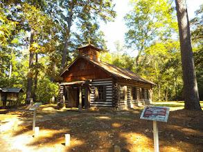 Photo: Mission Tejas replica (original building 1690), Weches, near Alto/Nacogdoches