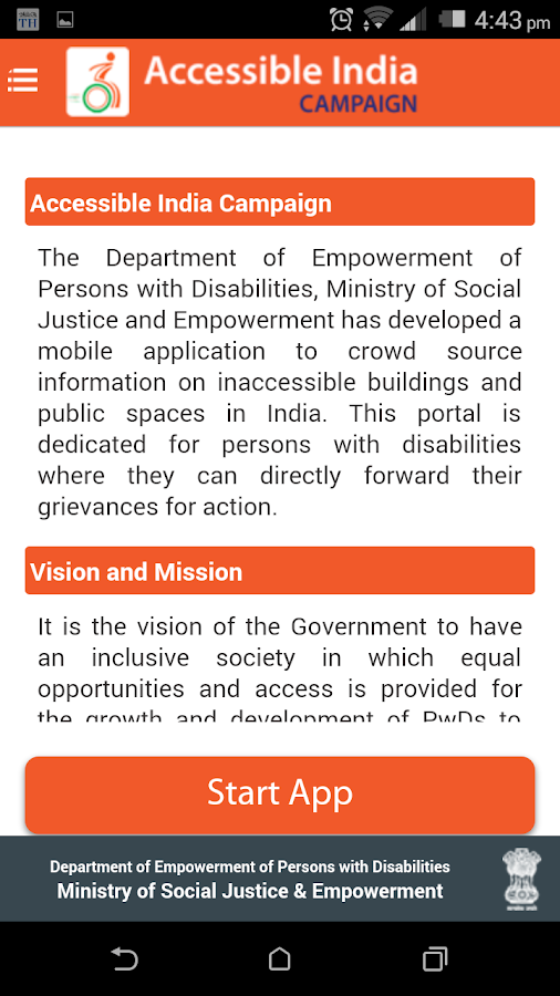 Accessible India Campaign- screenshot
